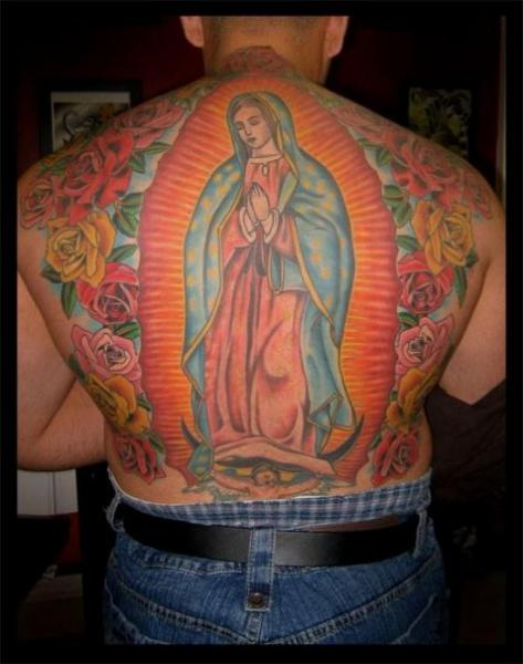 Back Religious Mother Mary Tattoo by Big Kahuna Tattoo