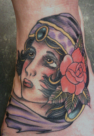 New School Hand Gypsy Tattoo by Big Kahuna Tattoo