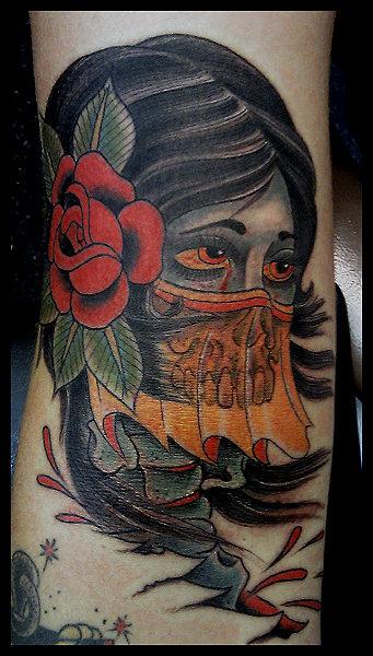 Old School Gypsy Tattoo by Big Kahuna Tattoo