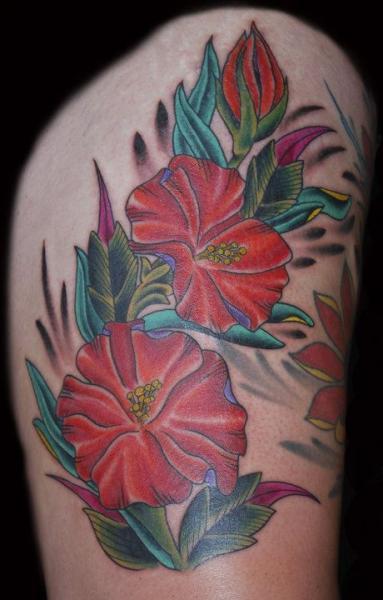Realistic Flower Tattoo by Big Kahuna Tattoo