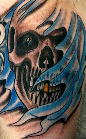 Skull Tattoo by Big Kahuna Tattoo