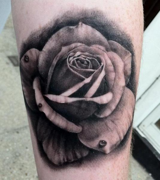 Arm Realistic Flower Tattoo by Black 13 Tattoo
