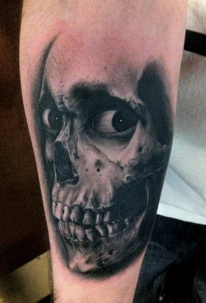 Arm Skull Tattoo by Black 13 Tattoo