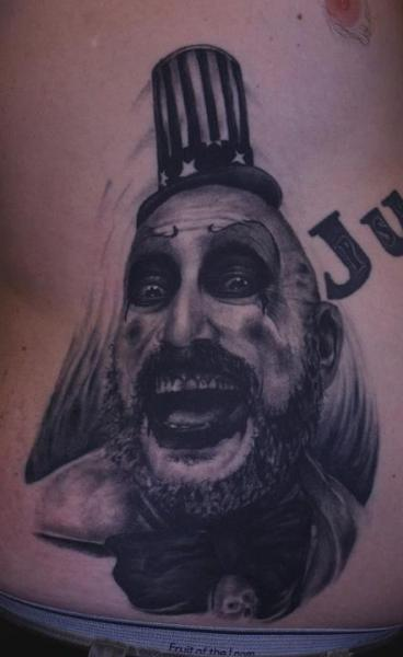 Fantasy Clown Belly Tattoo by Black 13 Tattoo