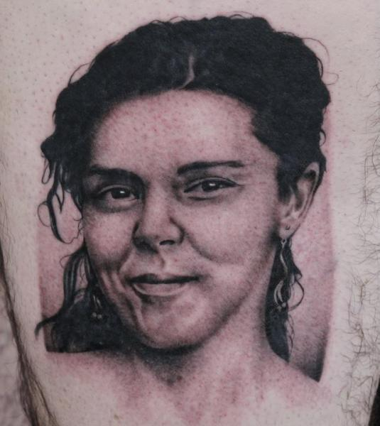 Portrait Realistic Women Tattoo by Black 13 Tattoo