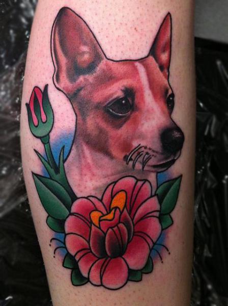 Realistic Dog Tattoo by Black 13 Tattoo
