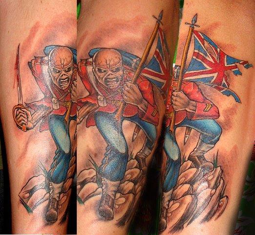 Arm Fantasie Iron Maiden Tattoo von Black Cat Tattoos