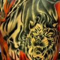 Snake Back Lion tattoo by Blood Sweat Tears