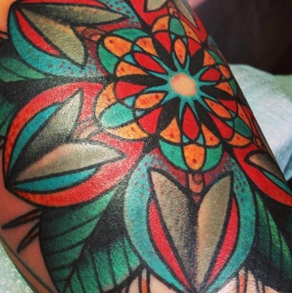New School Geometric Tattoo by Blood Sweat Tears