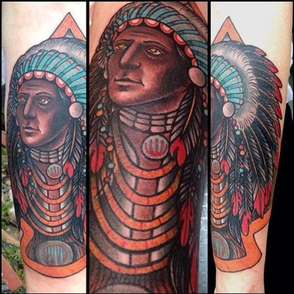New School Indisch Tattoo von Blood Sweat Tears