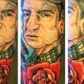Portrait Rose tattoo by Blood Sweat Tears