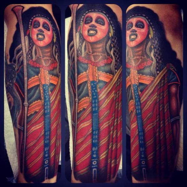 Shoulder Maya Tattoo by Blood Sweat Tears