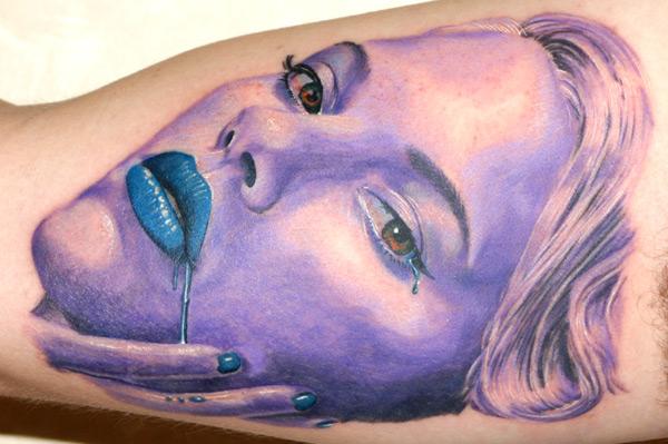 Arm Fantasie Porträt Tattoo von Bugaboo Tattoo