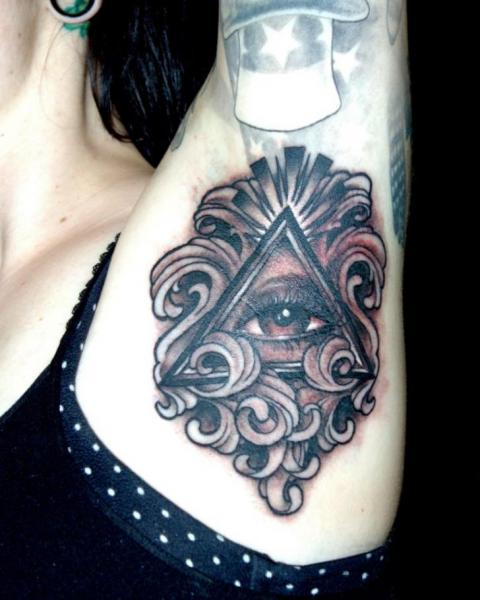 Arm God Tattoo by Cartel Ink Works