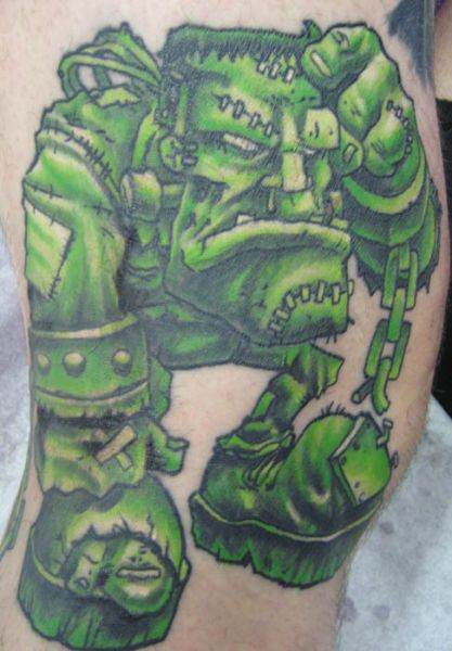 Fantasy Frankenstein Tattoo by Deluxe Tattoo