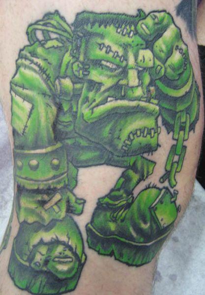 Fantasy Frankenstein Tattoo by Deluxe Tattoo