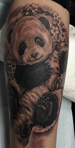 Arm Panda Tattoo by Richard Vega Tattoos