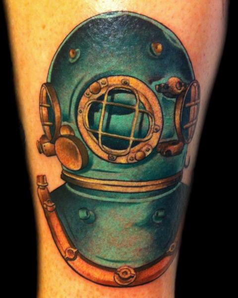 Arm Diver Tattoo by Divinity Tattoo
