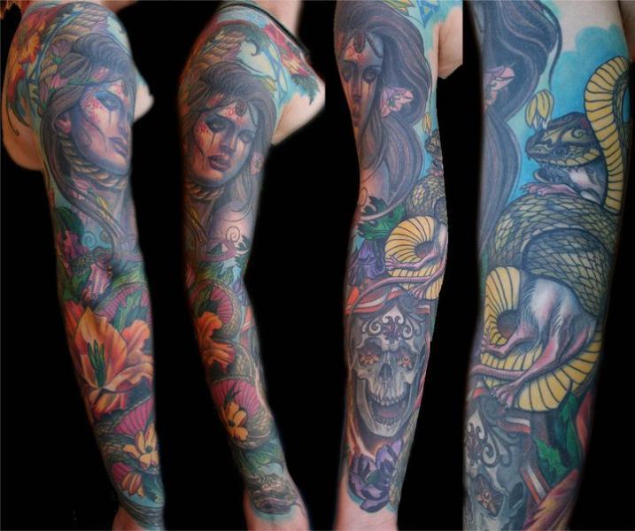 Tatouage Bras Serpent Femmes Par Divinity Tattoo
