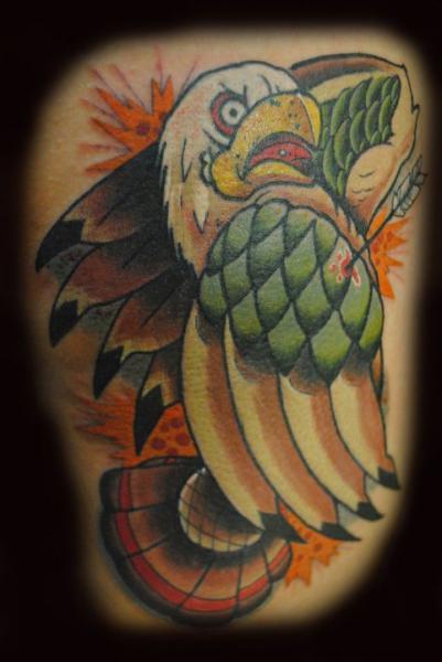 New School Adler Tattoo von Divinity Tattoo