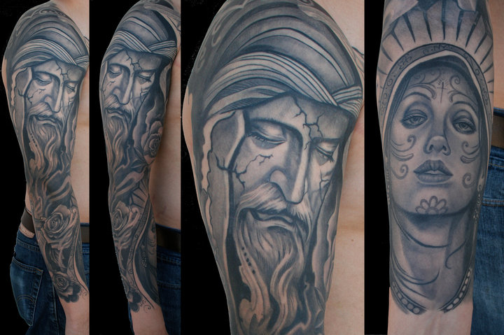 Shoulder Arm Jesus Tattoo By Divinity Tattoo