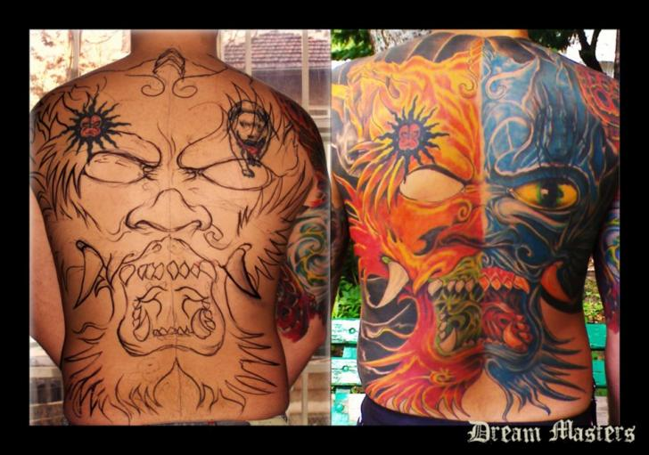 Back Demon Tattoo by Dream Masters