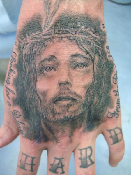 Hand Jesus Tattoo von Dream Masters