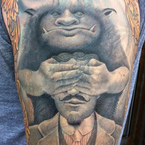 Fantasie Blind Charakter Tattoo von East Side Ink Tattoo