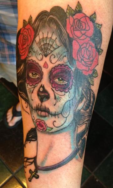 Arm Mexican Skull Tattoo by Electric Ladyland