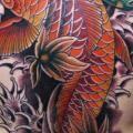 Japanese Back Carp Koi tattoo by Electric Soul Tattoo