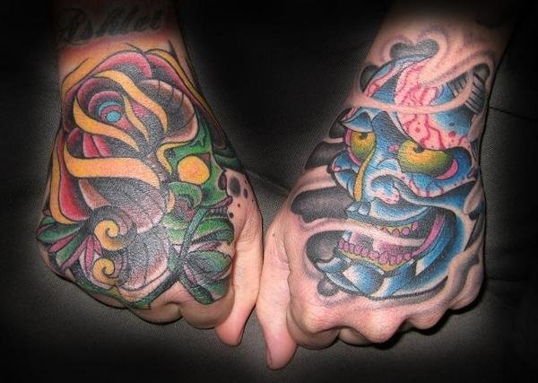 Japanese Hand Demon Tattoo by Electric Soul Tattoo