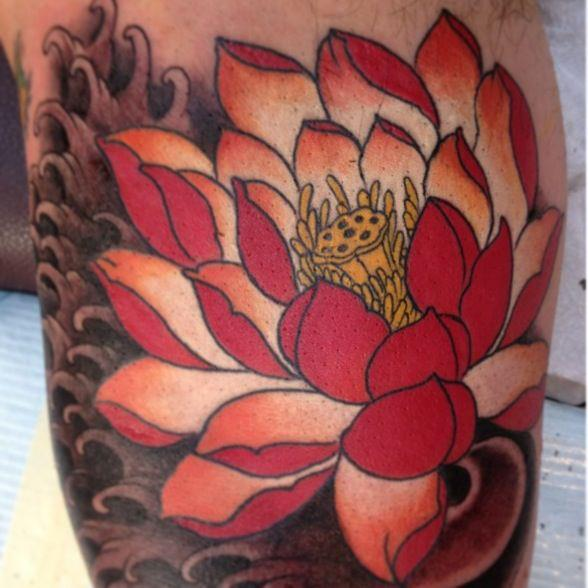 Flower Tattoo by Empire State Studios