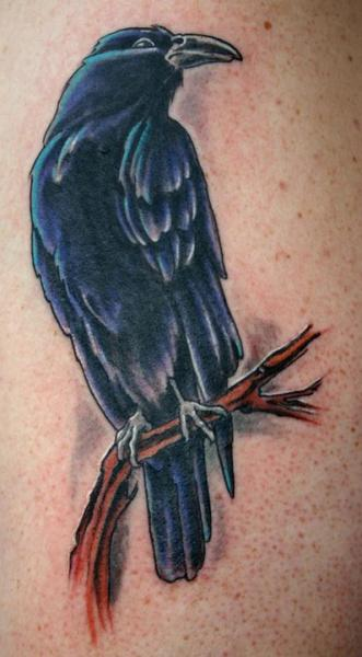 Tatuaje Realista Cuervo por Epic Tattoo