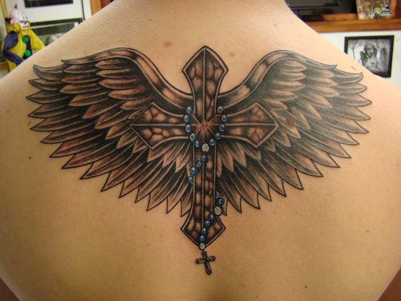 Back Wings Crux Tattoo By Eternal Ink Tattoo