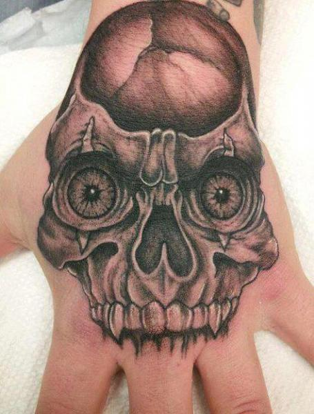 Skull Hand Mask Tattoo by Eternal Ink Tattoo