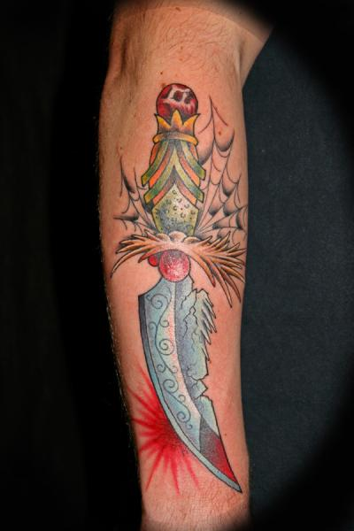 Arm Dagger Tattoo by Eye Of Jade Tattoo