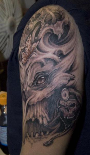 Shoulder Fantasy Monster Tattoo by Eye Of Jade Tattoo