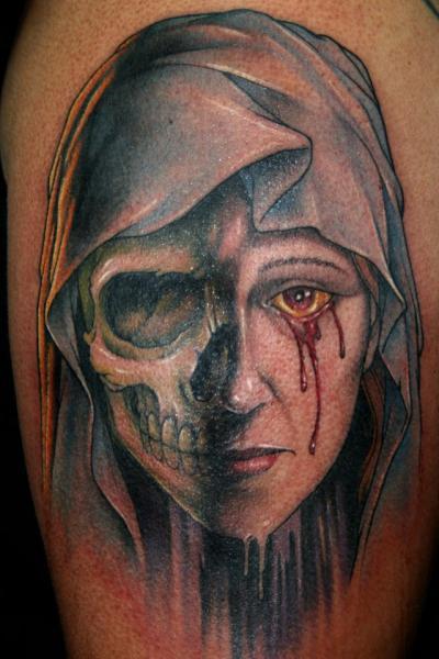 Fantasy Skull Women Tattoo by Fixed Army