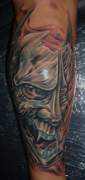 Arm Fantasy Demon Tattoo by Bloody Blue Tattoo