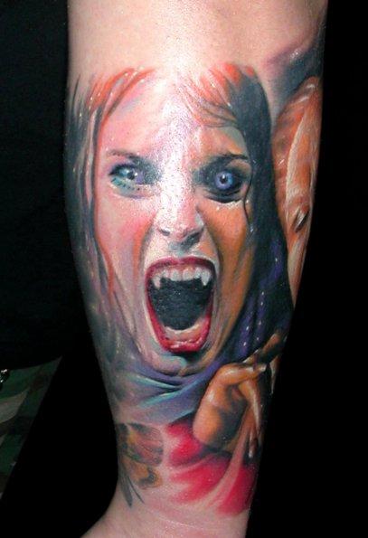 Tatuaje Brazo Fantasy Dracula por Bloody Blue Tattoo