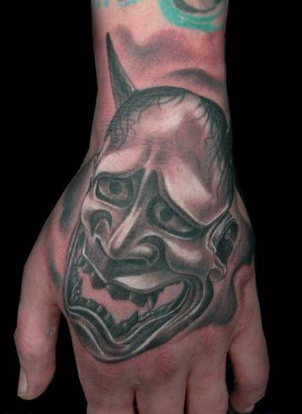 Fantasy Hand Devil Tattoo by Bloody Blue Tattoo