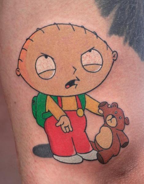 Griffin Stewie Tattoo von Bloody Blue Tattoo