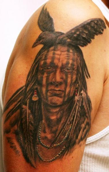 Shoulder Realistic Indian Tattoo by Flesh Tattoo Company