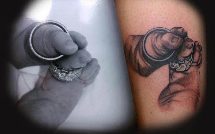 Foot Ring Tattoo by Gold City Ink