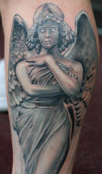 angel tattoo by good mojo tattoos