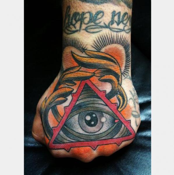 Old School Hand God Tattoo by Graceland Tattoo