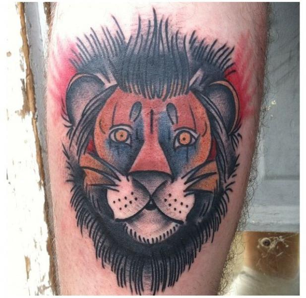 f5bbcd38c Old School Lion Tattoo by Graceland Tattoo