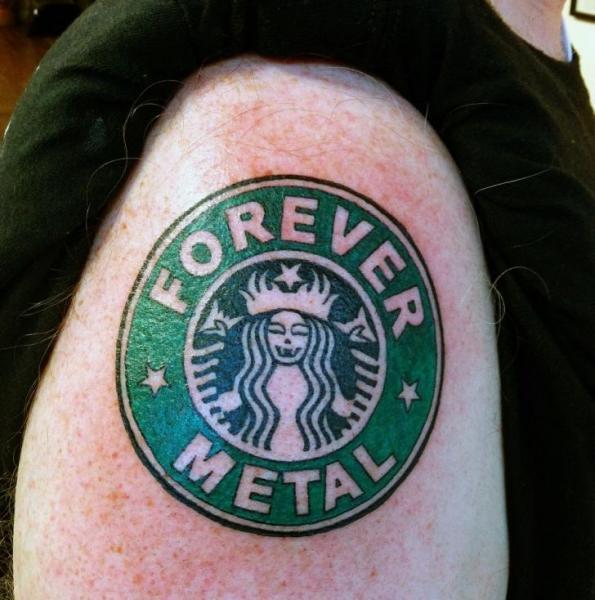 Shoulder Logo Tattoo by Graceland Tattoo