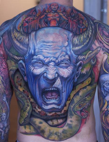Schlangen Rücken Drachen Tattoo von Graven Image Tattoo