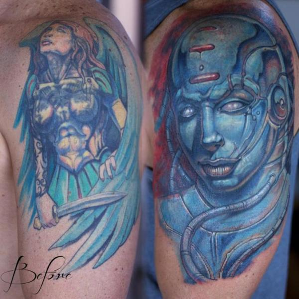 Shoulder Cover-up Tattoo by Graven Image Tattoo